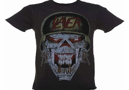 Amplified Mens Charcoal Slayer Riot Skull T-Shirt from product image