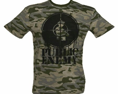 Amplified Mens Premium Camouflage Public Enemy Logo product image