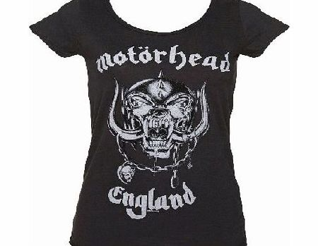 Ladies Charcoal Motorhead England T-Shirt from