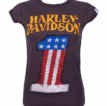 vintage american flag shirt. Davidson T-Shirt from