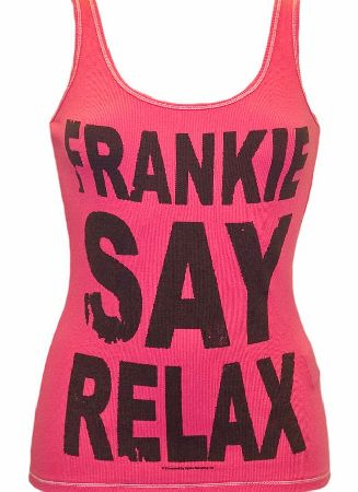 Amplified Vintage Ladies Frankie Say Relax Pink Vest from Amplified Vintage