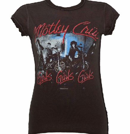 Amplified Vintage Ladies Motley Crue Girls Girls Girls Charcoal