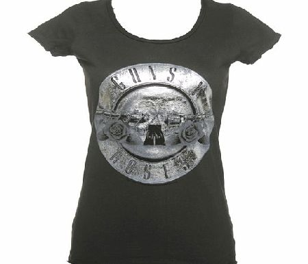 Amplified Vintage Ladies Silver Foil Guns N Roses Drum Logo