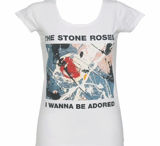 Amplified Vintage Ladies Stone Roses Wanna Be Adored White T-Shirt product image