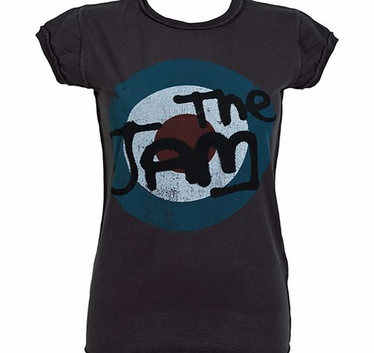 Amplified Vintage Ladies The Jam Charcoal Target Logo T-Shirt from product image
