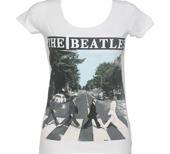 Amplified Vintage Ladies White Beatles Abbey Road T-Shirt from product image
