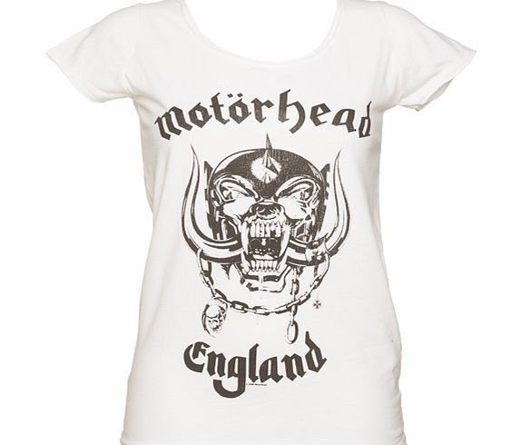 Ladies White Motorhead England T-Shirt from