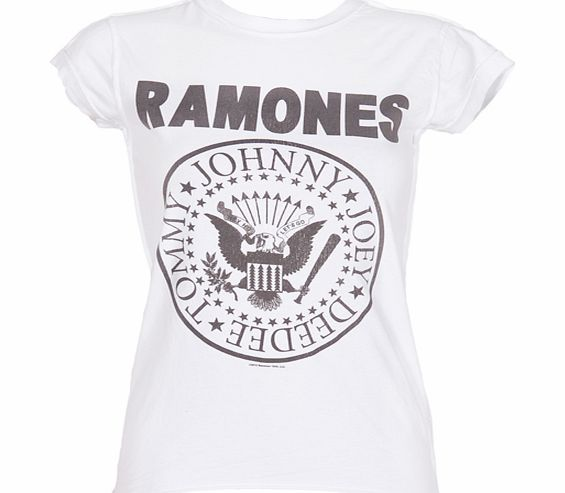 Amplified Vintage Ladies White Ramones Logo T-Shirt from Amplified product image