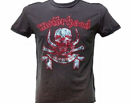 Men` Motorhead March Or Die Charcoal T-Shirt from Amplified Vintage