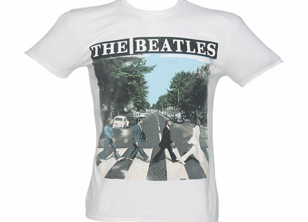 Amplified Vintage Mens White Beatles Abbey Road T-Shirt from product image