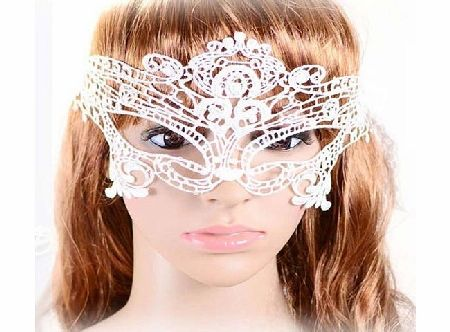 Amybria jewelry Costume Ball Sexy Lady White Lace Mask Masquerade Party Fancy Dress Lolita Goth product image