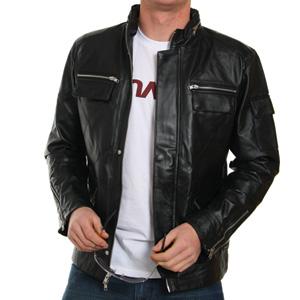 Leather Jacket With Hood