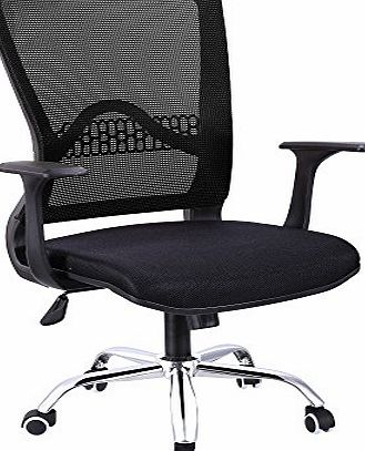 Ancheer Desk Chair, Executive Mesh Office Chair with Adjustable Height, Mesh Padded Seat, Mid-Back Swivel Computer Chair for Office and Family