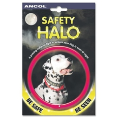 The Safety Halo Reflective Dog Collar by Ancol is a pulsing collar of light that makes sure your dog - CLICK FOR MORE INFORMATION