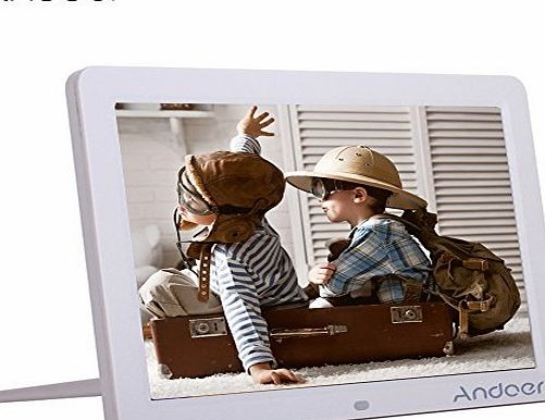 Andoer 12-inch HD LED Digital Picture Frame Wide Screen Digital Album High Resolution 1280*800 Electronic Photo Frame with Remote Control Black