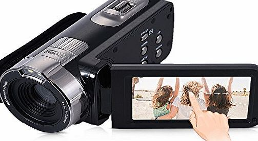 Andoer HDV-302P 3.0 Inch LCD Screen Camera Camcorder Full HD 1080P 15FPS 24MP 16X Digital Zoom Anti-shake Digital Video DV Remote Control Shutter