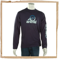 Animal Fawn Long Sleeve Tee Mood Indigo