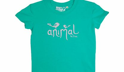 Animal Girls Girls Animal Daya Crew Printed T-Shirt. Atlantis product image