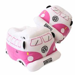 Ladies Camper Van Slippers - Phiox Pink