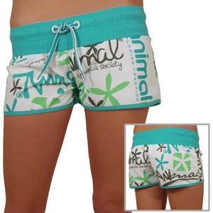 Animal Board Shorts Womens
