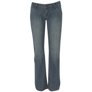 Ladies Animal Kelser Bootcut Denim Jean. Mid Wash