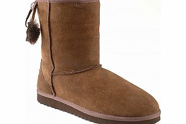 Animal Ladies NORTHSHORE SHEEPSKIN BOOTS - CHOCOLATE