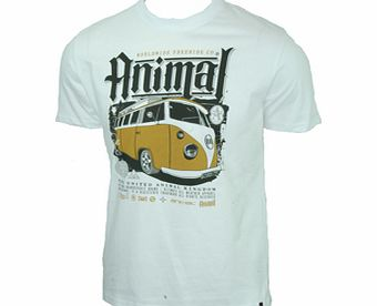 Animal Mens Mens Animal Cobbs VW T-Shirt. White product image