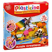 Build all different types of animals with this Plasticine Animal Modelling Assortment. Mould the different colour clay into the animal pieces to create all sorts of animals for your fun playmat. Contains 24 sticks of Plasicine, a playmat, modeling to - CLICK FOR MORE INFORMATION