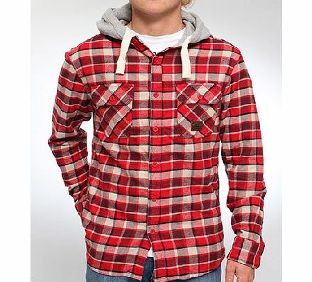 Selby Hooded flannel shirt