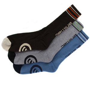 Animal Yoolasees 3 Pack socks - Brown/Blue/Grey