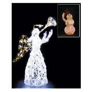 Animated Light Up Tinsel Snowman (Direct) product image