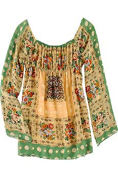 Long Silk Smock Top