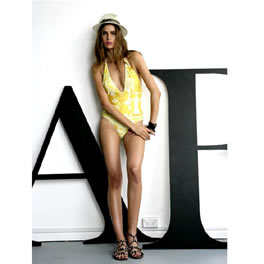 Annaboyfashion AnnaandBoy Lime Spice V Neck One Piece Swimsuit product image