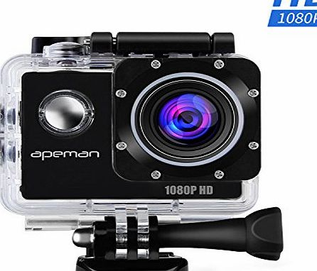 APEMAN Action Camera Full HD 1080P Waterproof Action Cam 1.5 inch LCD Screen 170 Ultra Wide Angle Lens Sport Camera