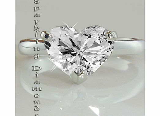 04CT HEART SHAPE DIAMOND SOLITAIRE RING Crafted in 18-karat white