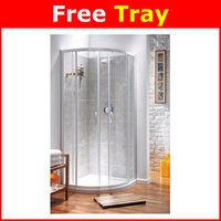 Quadrant Shower Enclosure and Tray White 1850 x 900mm
