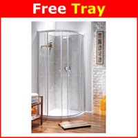 White 800mm Quadrant Shower Enclosure and Tray