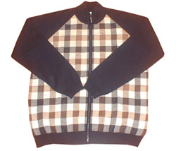 Aquascutum Large check zip thru cardigan