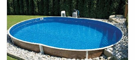 Aquaworld wood grain steel pool x swimming pool review compare prices buy online for How to build a grain bin swimming pool
