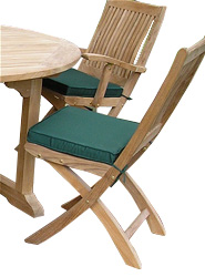 The Appledore folding chair crafted from premium grade teak from Central Java - CLICK FOR MORE INFORMATION