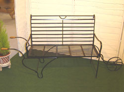 Inspired by the Victorians  this hand crafted  wrought iron bench has a unique and distinctive - CLICK FOR MORE INFORMATION