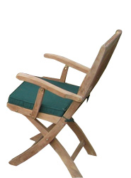 The Brampford is a stylish and sturdy folding arm chair crafted from premium grade teak - CLICK FOR MORE INFORMATION