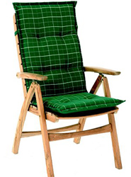 Garden Furniture - Cushion for Helston Garden Chair Naxos Green - CLICK FOR MORE INFORMATION