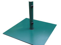 This sturdy and robust green powder coated steel parasol base has two screws in its locking device - CLICK FOR MORE INFORMATION