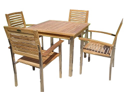 The Hartland Set is the ultimate in elegant garden furniture.     Its contemporary styling and - CLICK FOR MORE INFORMATION