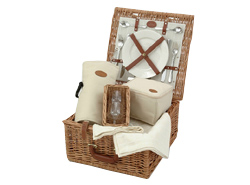 Arboreta Natural Wine Lovers Picnic Basket 2 person