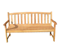 Garden Furniture - Oak Garden Bench - CLICK FOR MORE INFORMATION