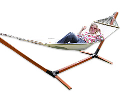 Ideal for relaxing and unwinding in the garden in style. The soft swinging motion a hammock will - CLICK FOR MORE INFORMATION