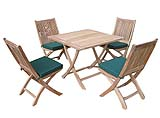 The Patchole Set comprises;    1 Patchole Square folding table and 4 Appledore folding chairs - CLICK FOR MORE INFORMATION