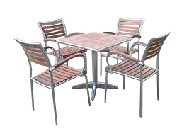 This beautiful bistro set is expertly crafted from premium A grade java teak and lightweight - CLICK FOR MORE INFORMATION